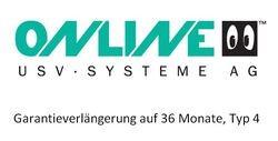 Online USV - Garantieverlängerung auf 36 Monate, Typ 4