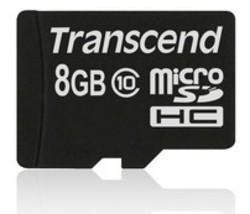 Transcend 8GB microSDHC Class 10