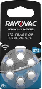 Rayovac Hörgerätebatterie 675 (PR44) 6er Blister