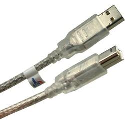 equip USB 2.0 Anschlusskabel A-Stecker/ B-Stecker 5m transp.