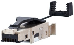 E-DAT Industry IP20 RJ45 field plug black