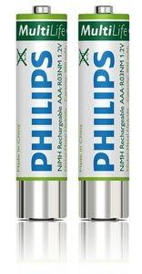 Philips 2 Aufladbare Akkus AAA LFH 9154