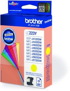 Brother Tintenpatrone LC-223Y Gelb (ca. 550 Seiten)