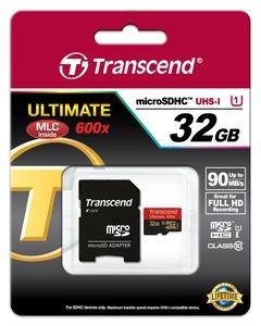 Transcend 32GB microSDHC Class 10 UHS-I + SD-Adapter