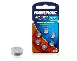 Rayovac Hörgerätebatterie 312 (PR41) 6er Blister