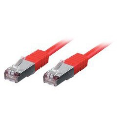 equip CU Patchkabel S/FTP 2xRJ45 Cat.6 250MHz rot 5,0m