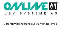 Online USV - Garantieverlängerung auf 36 Monate, Typ 6