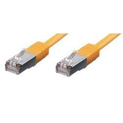 equip CU Patchkabel S/FTP 2xRJ45 Cat.6 250MHz gelb 1,0m