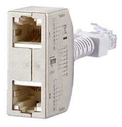 RJ45 Anschlussverdoppler (Telefon/Telefon) 2 Stück