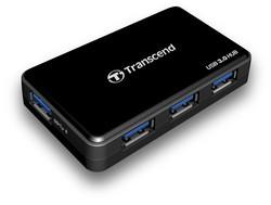 Transcend HUB3K inkl. Netzteil & Schnell-Lade-Port USB 3.0