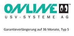Online USV - Garantieverlängerung auf 36 Monate, Typ 5