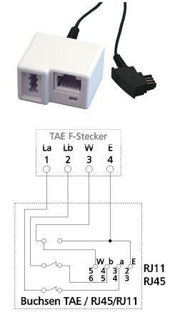 Adapter TAE F - TAE/WE8(6) 6m