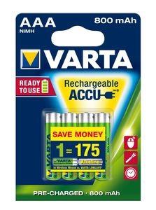 VARTA RECHARGE ACCU Power AAA 800mAh Blister 4