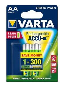 VARTA Rechargeable Akku AA Mignon 2er 2600mAh (Entladeschutz)